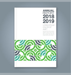 Cover annual report 827 vector