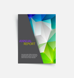 cover magazine geometric shapes info-graphic for vector image