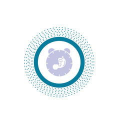 Delivery time baby birth child glyph icon isolated vector