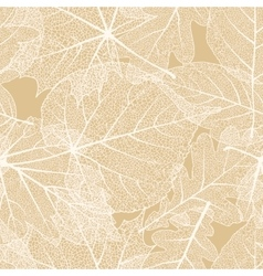 Detailed leaves seamless background eps 10 vector