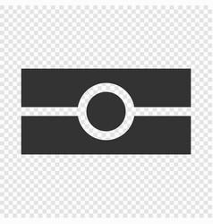 e-passport icon isolated vector image