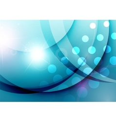 Elegant color waves with light flares vector image vector image