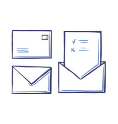 envelope closed letter back front view voting page vector image