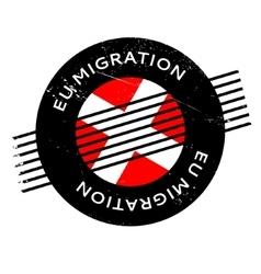 Eu Migration rubber stamp vector