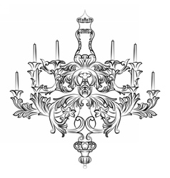 Exquisite Rich Baroque Classic chandelier vector image