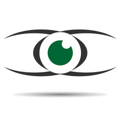 Eye logo icon vision concept vector