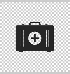 first aid kit icon on transparent background vector image