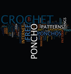Free crochet poncho text background word cloud vector