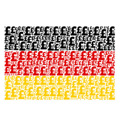 german flag mosaic of pound sterling items vector image