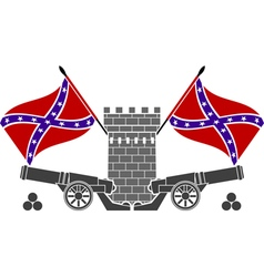 Glory of confederacy stencil second variant vector