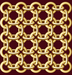 Gold chain pattern vector