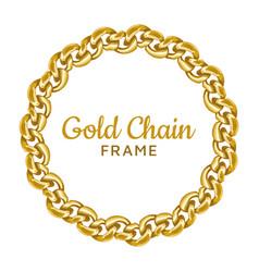 gold chain round border frame wreath circle wavy vector image