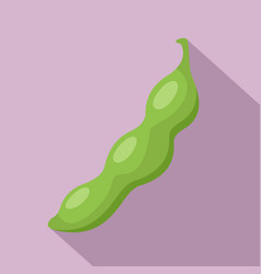 Green peas icon flat style vector