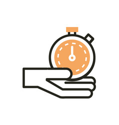 hand stopwatch web development icon line and fill vector image