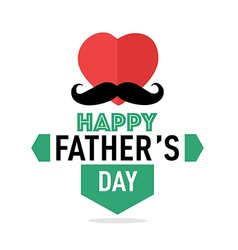 Happy fathers day badges retro vector image
