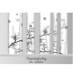 Happy thanksgiving in paper cut style vector