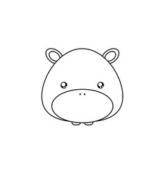 Hippo drawing face vector