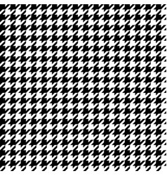 houndstooth seamless pattern black and white vector image
