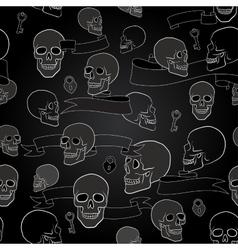human skulls seamless pattern vector image
