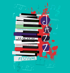 Jazz poster image vector
