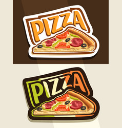 Logo for pizza vector