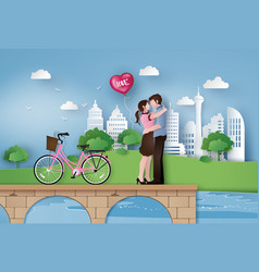 Love and valentine day vector