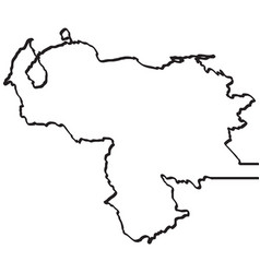 map of venezuela continous line vector image