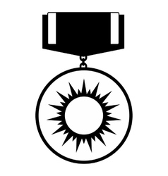 Medal black simple icon vector