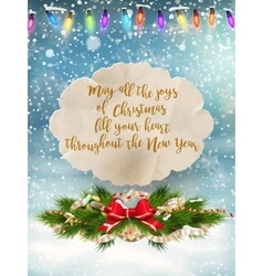 Merry Christmas Lettering Design EPS 10 vector image