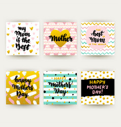 mothers day trendy postcards vector image