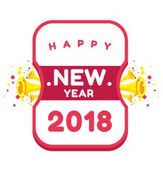 New year happy 2018 image vector