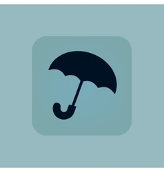 Pale blue umbrella icon vector