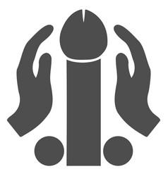 penis masturbation flat icon vector image