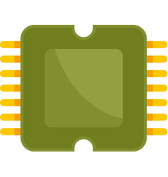 Phone processor icon flat isolated vector