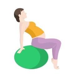 Pregnant Woman Exercise vector