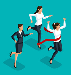 quality isometry 3d business women vector image