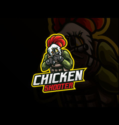 Rooster mascot sport logo design vector