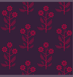 Seamless stylized graphical chamomile pattern vector