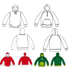 set of hoodies vector image