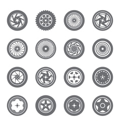 Set of wheel rims vector image