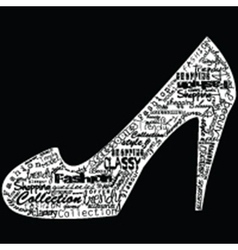 Shoe with fashion messages vector