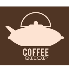 Silhouette coffee Kettle design vector