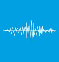 Sound wave icon white vector