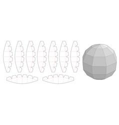 Sphere shaped die cut template vector