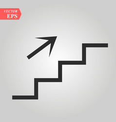 stairs up icon on white background vector image