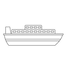 Steamer icon outline style vector