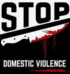 stop domistic violence vector image
