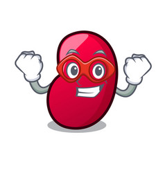 super hero jelly bean character cartoon vector image