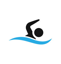 swimming icon design template isolated vector image