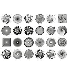 swirl spirals spiral vortex motion elements vector image